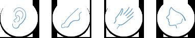 icones de réflexothérapie